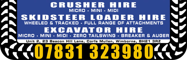 Excavator hire Somerset